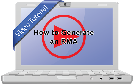 Watch a video on how to generate an RMA