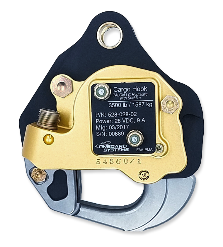 Onboard Systems Bell 407 Cargo Hook Kits with Surefire Option Certified by FAA